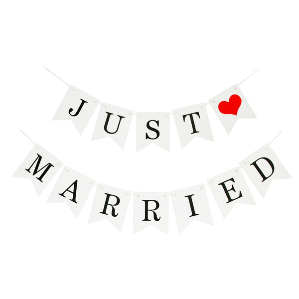 Just Married Banner Bunting Garland -  200217147 - ShaadiMagic