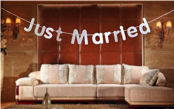 Just Married Wedding Party Banner