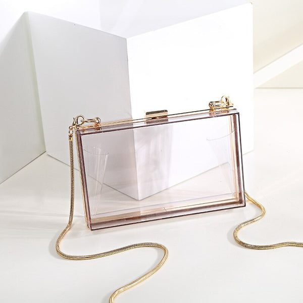Acrylic Women Transparent Clutch Bag -  100002856 - ShaadiMagic