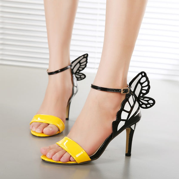 Dream Butterfly Buckle Nightclub High Heels -  200001012 - ShaadiMagic