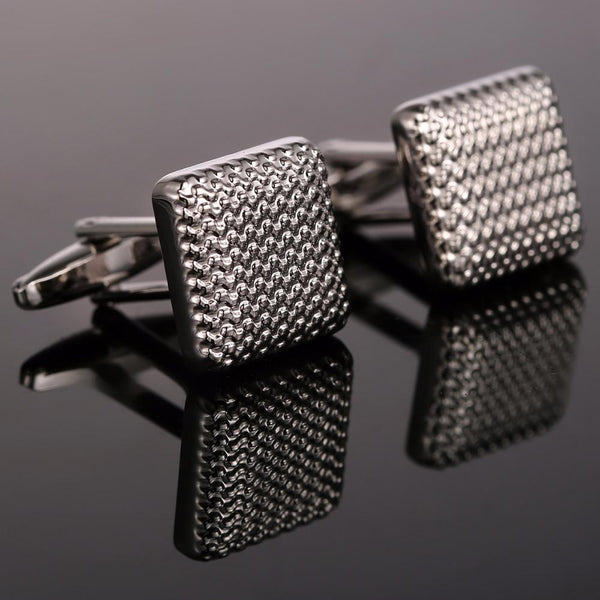 Classical Cuff links Silver-Color -  [product_type] - ShaadiMagic