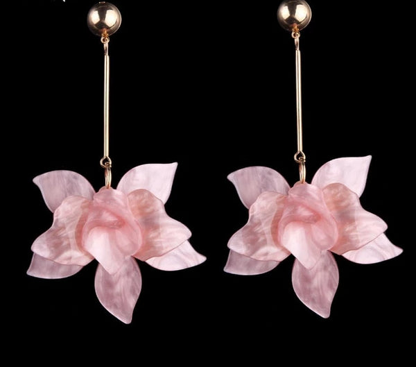 Big Flower Drop Dangle Earrings -  [product_type] - ShaadiMagic
