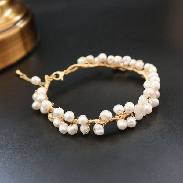 Natural Stone Fresh Water Pearl Bracelet -  200001687 - ShaadiMagic