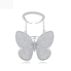 Butterfly Micro Cubic Zircon Ring -  100007323 - ShaadiMagic