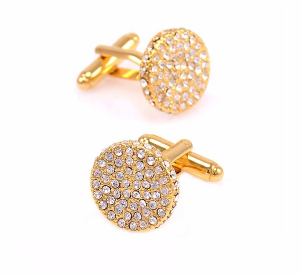 Luxury Crystal Shirt Cuff Buttons -  200000175 - ShaadiMagic