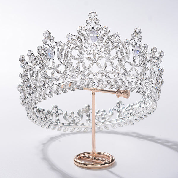 Baroque Queen Bride Tiara Crown