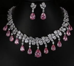 Tear Drop Cubic Zirconia Bridal Jewelry -  100007324 - ShaadiMagic