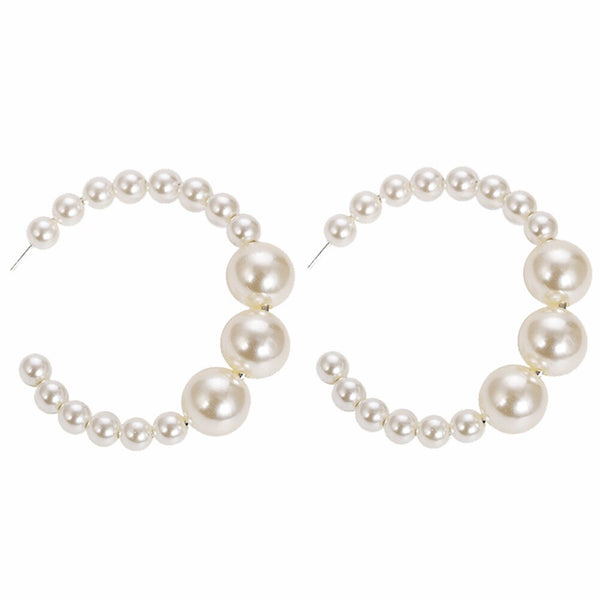 Trendy White Golden Pearl Hairbands -  100007319 - ShaadiMagic