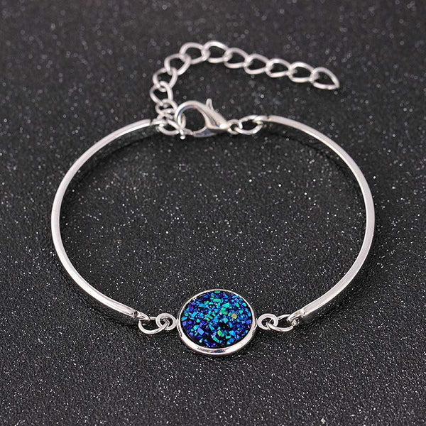 Big Druzy Stone Adjustable Bracelet -  200000147 - ShaadiMagic