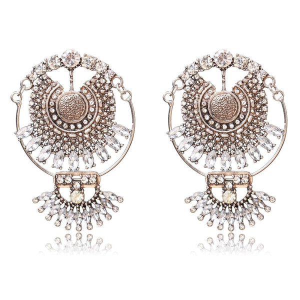 Metal Dangle Boho Vintage Earring -  200000168 - ShaadiMagic