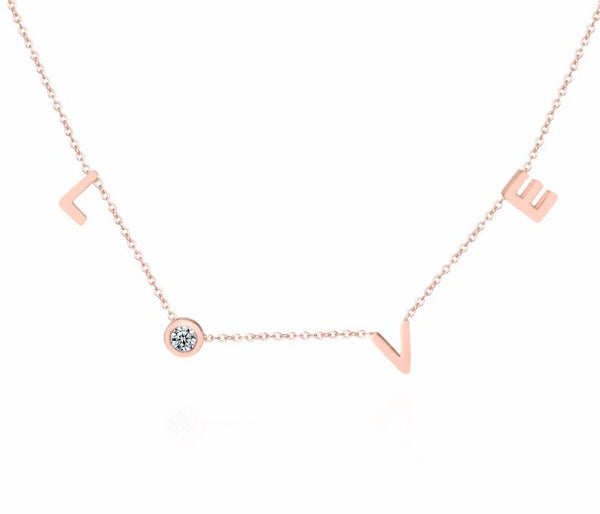 LOVE Letter Choker Necklace -  200000162 - ShaadiMagic