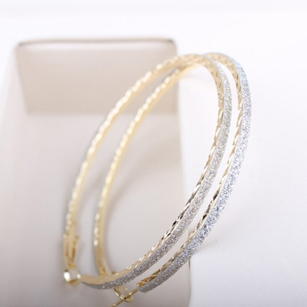 Trendy Big Round Hoop Earrings -  200000170 - ShaadiMagic