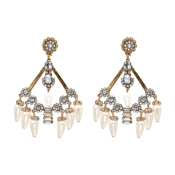 Trendy Pearl Tassel Earrings -  200000168 - ShaadiMagic