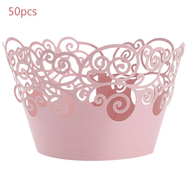50 Pc. Paper Lace Cup Cake Wrapper -  [product_type] - ShaadiMagic