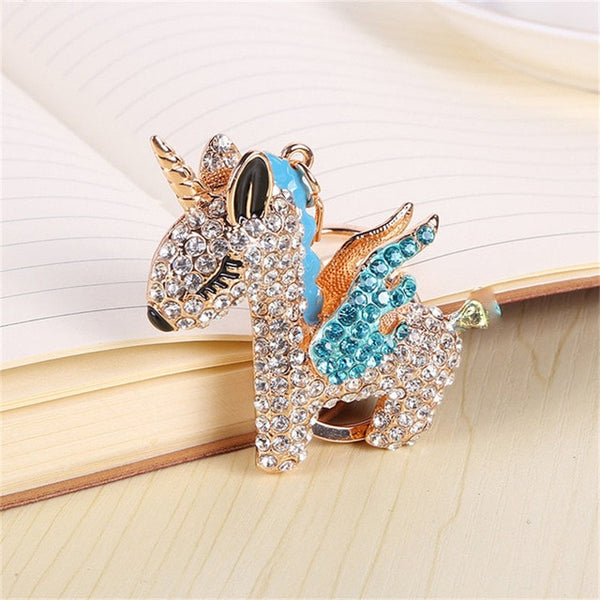 Full Crystal Rhinestone Unicorn Keychain -  [product_type] - ShaadiMagic