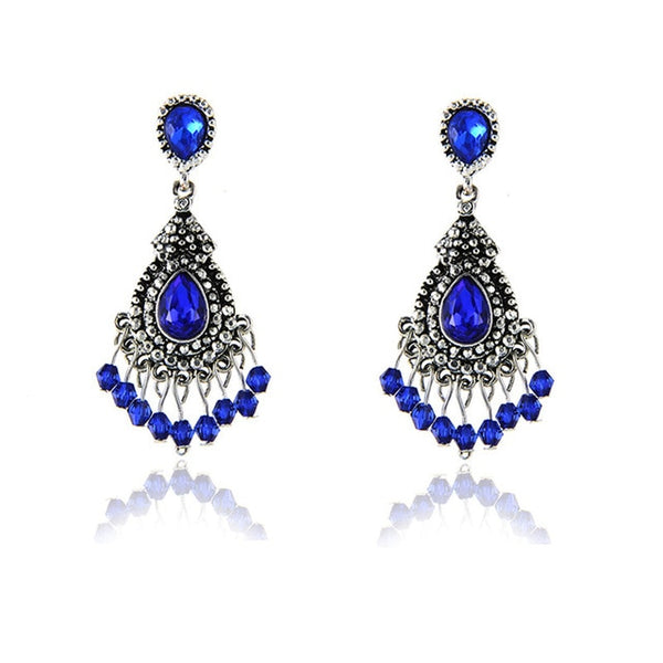 Colorful Flower Luxury Drop Earring -  [product_type] - ShaadiMagic