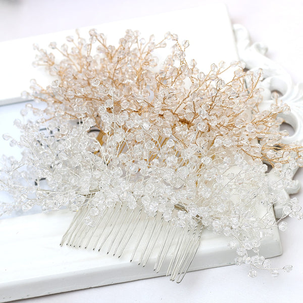 Hair Combs Beaded Headdress -  [product_type] - ShaadiMagic