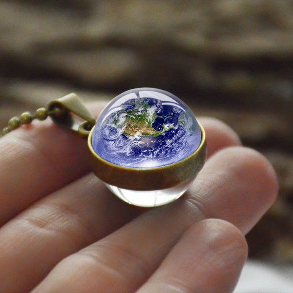 Double Side Glass Ball Planet Astronomy Necklace -  [product_type] - ShaadiMagic