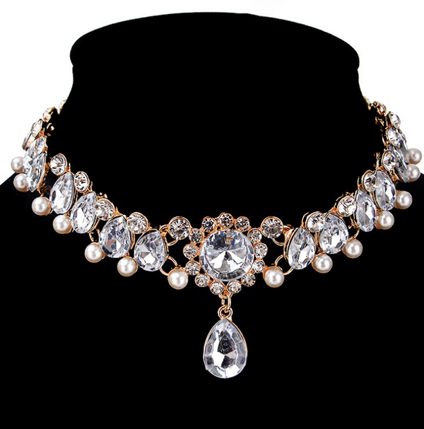 Thick Chain Artificial Pearl Damas Necklace