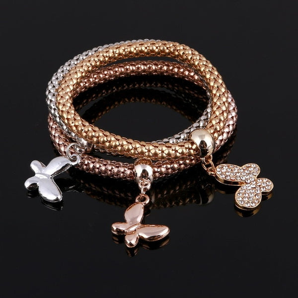 3 Pcs/Set Crystal Gold/Silver Bracelets Bangles -  [product_type] - ShaadiMagic