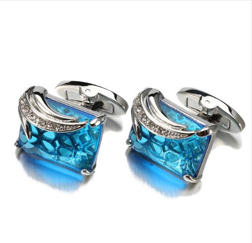 Luxury Square Crystal Cufflinks -  [product_type] - ShaadiMagic