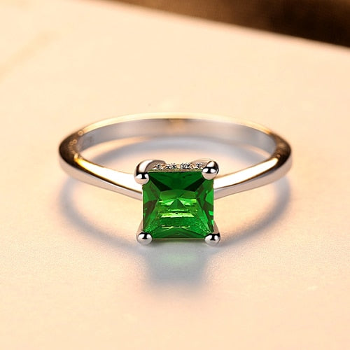 Emerald Stone 925 Sterling Silver Ring -  [product_type] - ShaadiMagic