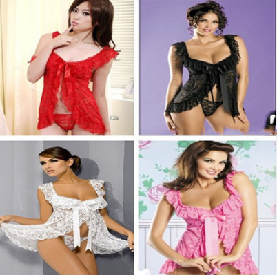 Sexy Lace  G-string Night Gowns -  [product_type] - ShaadiMagic