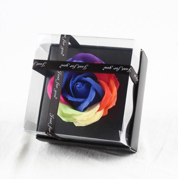 Rose Soap Flower With Ribbon