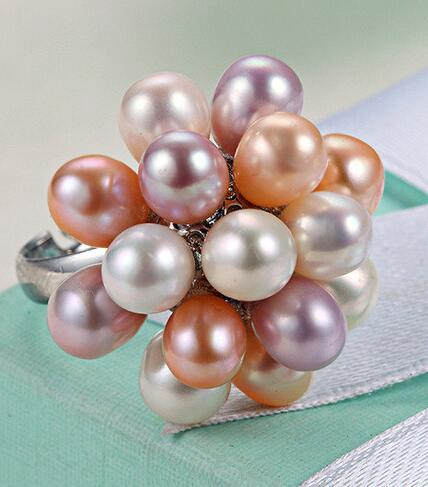 Pearl Drop Natural Freshwater Ring -  [product_type] - ShaadiMagic