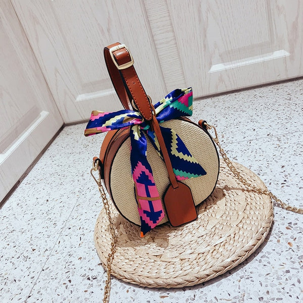 Straw Beach Cross-Body Shoulder Bag -  [product_type] - ShaadiMagic