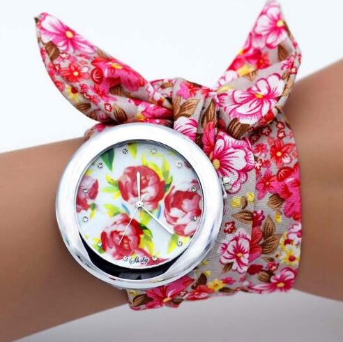 Flower Cloth Bracelet Wristwatch -  [product_type] - ShaadiMagic