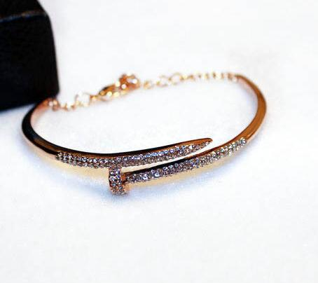 Crystal Horseshoe Cuff Rhinestones Bangle -  [product_type] - ShaadiMagic