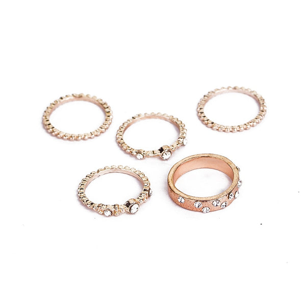 5 Pc. Rhinestone Crystal Rings -  [product_type] - ShaadiMagic