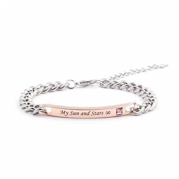 """Moon of My Life"" "" My Sun and Stars"" Couple Bracelets -  [product_type] - ShaadiMagic"