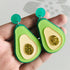 Green Avocado Fruit Drop Earrings -  [product_type] - ShaadiMagic