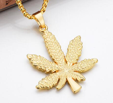 Maple Leaf Pendant Necklace with Hip Hop Chain -  [product_type] - ShaadiMagic