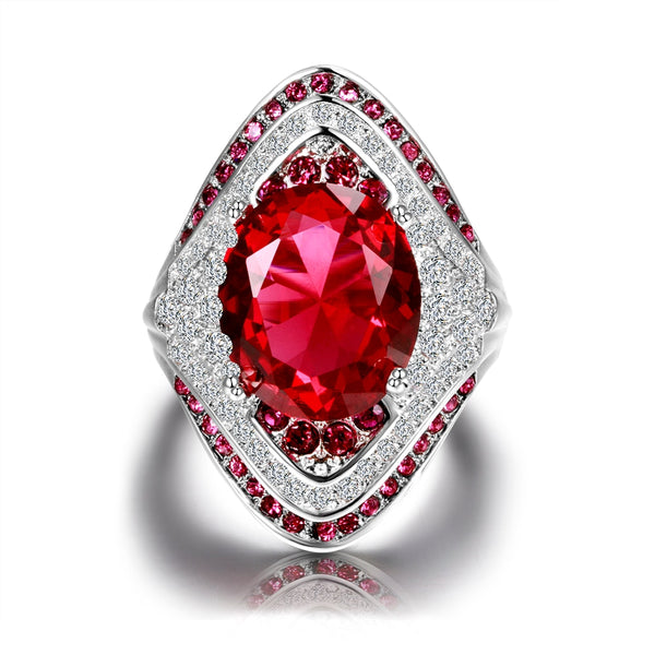 925 Sterling Silver Zircon Ruby Stone Ring -  [product_type] - ShaadiMagic