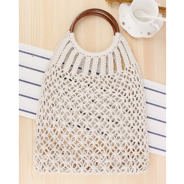 Hand-Knitted Hollow Round Handbag -  [product_type] - ShaadiMagic