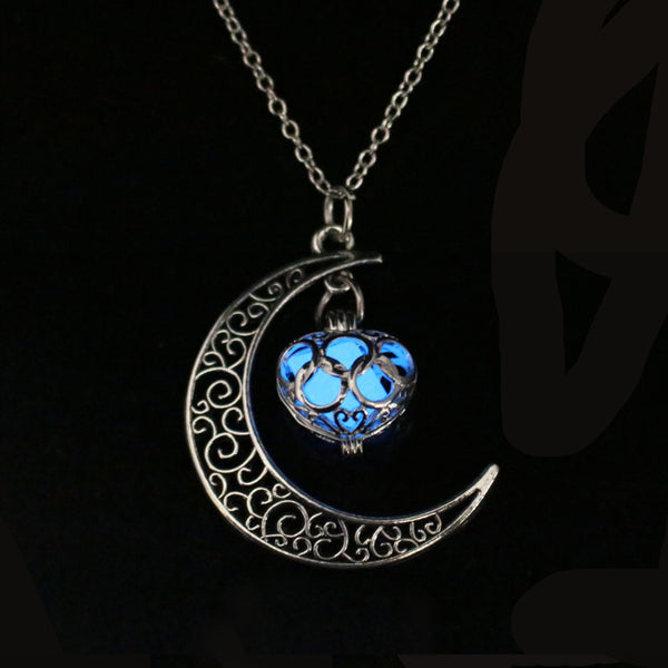 Moon Glowing Necklace -  [product_type] - ShaadiMagic