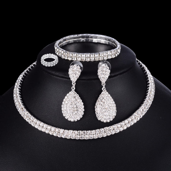 4 Pc. Necklace Bracelet Ring Earring Set -  [product_type] - ShaadiMagic