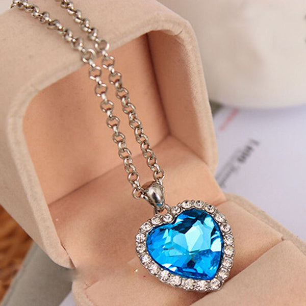 Pendant Heart Necklace Titanic Ocean -  [product_type] - ShaadiMagic