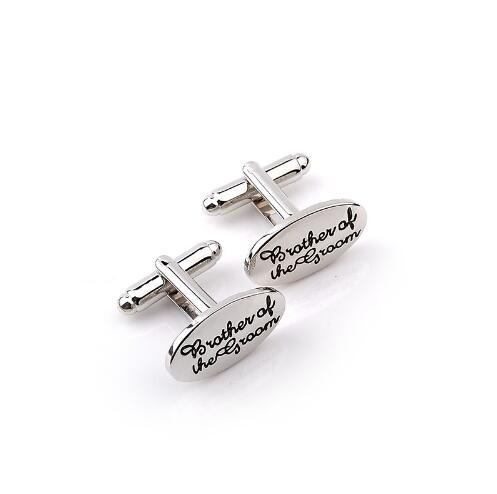 Silver Oval Cuff-links