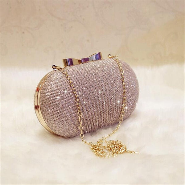 Golden Shiny Evening Clutch Bag -  [product_type] - ShaadiMagic