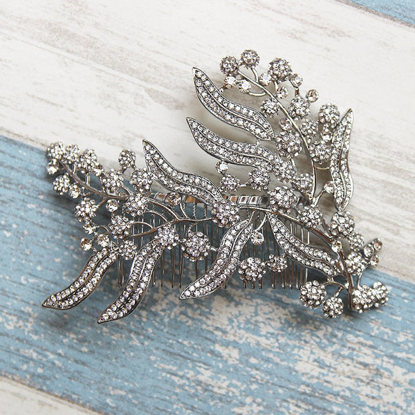 Hair Comb Headpiece Leaves -  [product_type] - ShaadiMagic