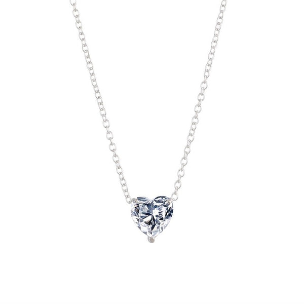 Crystal Heart Pendant Necklace -  [product_type] - ShaadiMagic