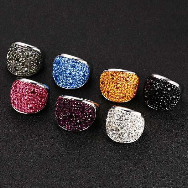 Multicolored Rhinestone Ring -  [product_type] - ShaadiMagic