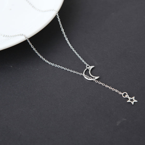 Moon Star Pendant Choker Necklace -  [product_type] - ShaadiMagic