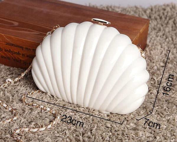 Pearl Shell Clutch -  [product_type] - ShaadiMagic