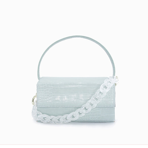 Square Top-Handle Crocodile Pattern Shoulder Bag -  [product_type] - ShaadiMagic