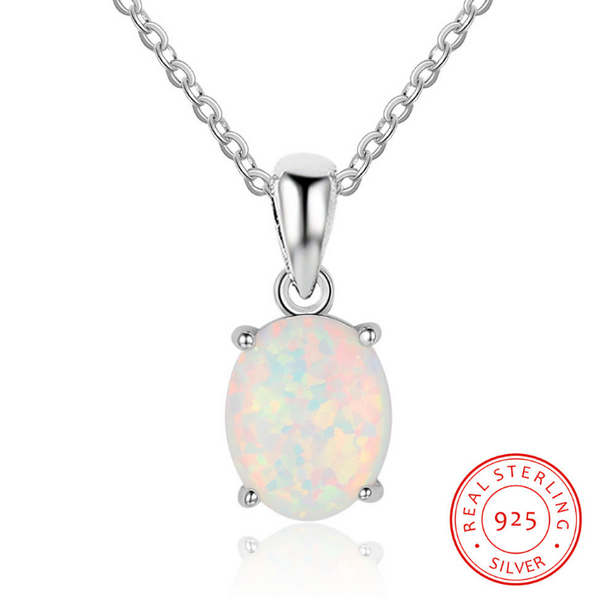Oval Opal Necklace Pendant -  [product_type] - ShaadiMagic